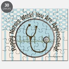 CP happy nurses week chocolate blue Puzzle