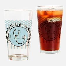 CP happy nurses week chocolate blue Drinking Glass