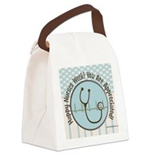 CP happy nurses week chocolate bl Canvas Lunch Bag