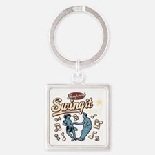 Swing It Again! Square Keychain