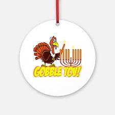 Gobble Tov Thanksgivukkah Turkey and Menorah Ornam