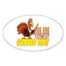 Gobble Tov Thanksgivukkah Turkey and Menorah Stick