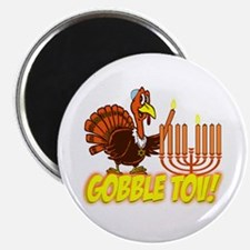 Gobble Tov Thanksgivukkah Turkey and Menorah Magne