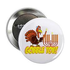 "Gobble Tov Thanksgivukkah Turkey and Menorah 2.25"""