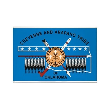 Cheyenne Arapaho Flag Rectangle Magnet
