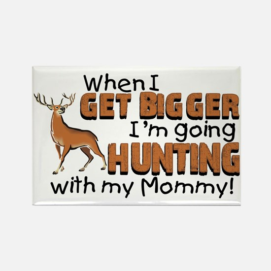 hunting mommy Rectangle Magnet