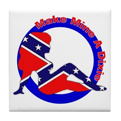 Make Mine a Dixie Tile Coaster