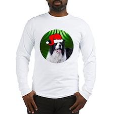 bordercolliexmas-round Long Sleeve T-Shirt