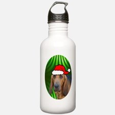 bloodhoundxmas-oval Water Bottle