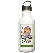 go green garden book3 Water Bottle