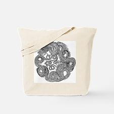 Jormungandr Midgard Serpent Tote Bag