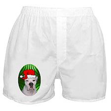 ambulldogxmas-oval Boxer Shorts