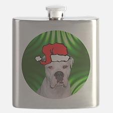 ambulldogxmas-round Flask