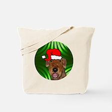 airedalexmas-round Tote Bag