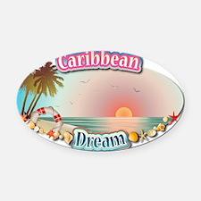 Caribbean Oval Car Magnet