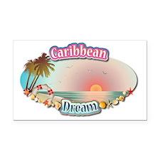 Caribbean Rectangle Car Magnet