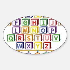 ABC Blocks Sticker (Oval)