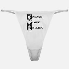 Peace Love Hiking Classic Thong