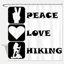 Peace Love Hiking Shower Curtain