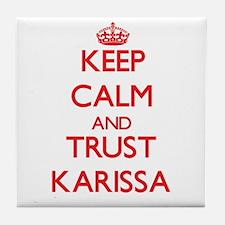 Keep Calm and TRUST Karissa Tile Coaster