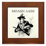 Molon Labe Minuteman Framed Tile