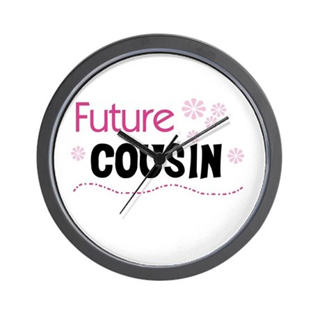 Future Cousin (pink) Wall Clock