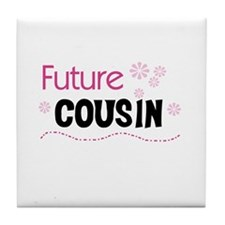 Future Cousin (pink) Tile Coaster