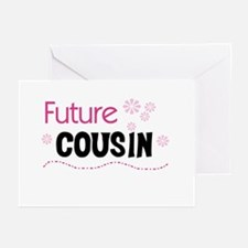 Future Cousin (pink) Greeting Cards (Pk of 10)