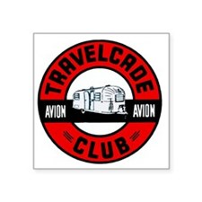 "Travelcade Club Logo final  Square Sticker 3"" x 3"""