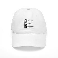 Peace Love Blogging Baseball Baseball Cap