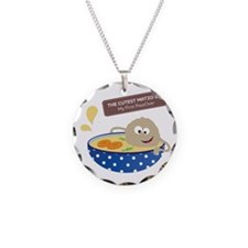 The cutest matzo ball-my fir Necklace Circle Charm