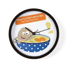 Daddys cutest matzo ball-my first Passo Wall Clock