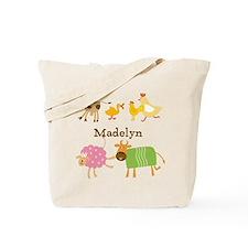 Customized Farm Animals Tote Bag