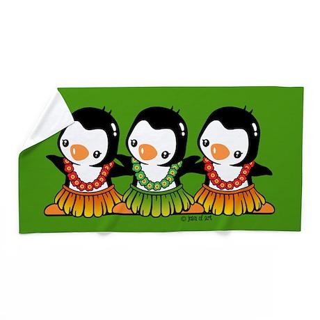 Dancing Penguins Beach Towel