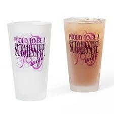 10x10_SubW_b1_cerise Drinking Glass