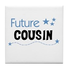 Future Cousin (blue) Tile Coaster