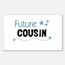 Future Cousin (blue) Rectangle Decal