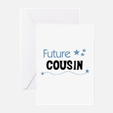 Future Cousin (blue) Greeting Cards (Pk of 10)