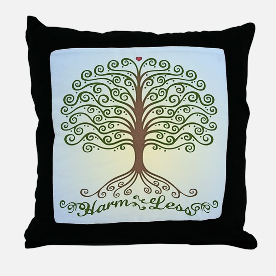 harm-less-tree-BUT Throw Pillow