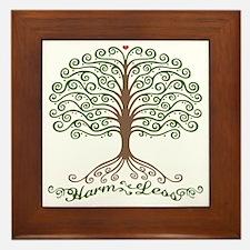 harm-less-tree-T Framed Tile