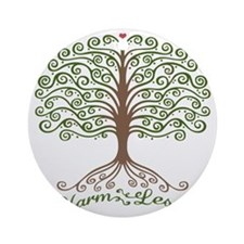 harm-less-tree-T Round Ornament