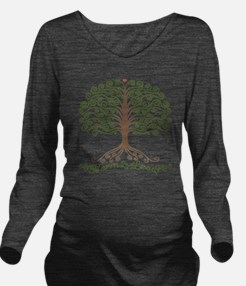 harm-less-tree-T Long Sleeve Maternity T-Shirt