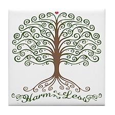 harm-less-tree-T Tile Coaster