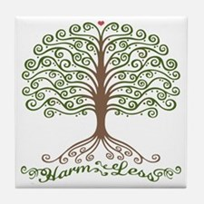 harm-less-tree-T Tile Coaster