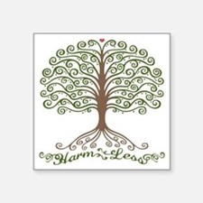 "harm-less-tree-T Square Sticker 3"" x 3"""
