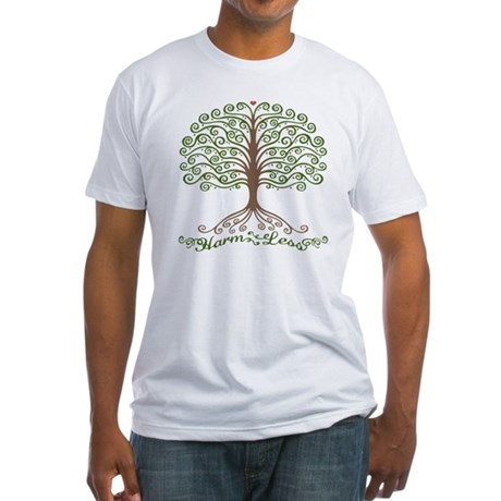 harm-less-tree-T Fitted T-Shirt