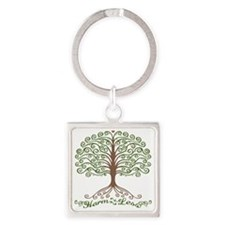 harm-less-tree-T Square Keychain
