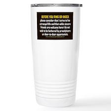 No Soliciting Tranquil Life 3x5 Travel Mug
