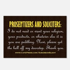 No Soliciting Get The Hel Postcards (Package of 8)