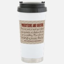 No Soliciting Get The Hell Off  Travel Mug